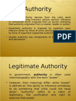  the Word Authority Derives From the Latin Word Auctoritas