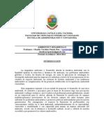 Programa Ambiente y Desarrollo 2014-2015