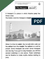 Grade 1 Islamic Studies - Worksheet 3.3 - Al-Masjid (the Mosque)