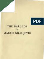 The Ballads of Marko Kraljevic (1922.) - David Halyburton Low