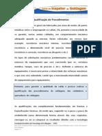 D12 T1 Qualificação de Procedimentos