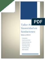 Taller #1 Aspectos Sismicos