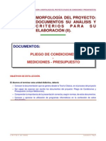 Leccion 06 Morfologia Del Proyecto II Documentos (Pliego y Presupuesto)