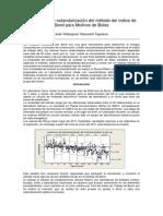 Parámetros de Estandarización Del Método Del Índice de Bond Para Molinos de Bolas