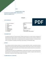 Silabo Auditoria de Telecomunicaciones y Redes 2014-20