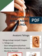 Pengambilan Benda Asing Di Telinga