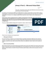 Vtricks.com-DataCores SANsymphonyV Part 2 Mirrored Virtual Disk