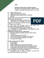 Sri Vidya General Points