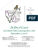 St. Rita Parish Bulletin 11/2/2014