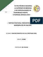 Vértigo Postural Paroxístico Benigno