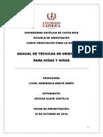Trabajo de Técnicas Para La Niñez u Catolica Para Presentar.