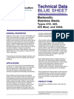 Martensitic Steels Data