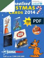 Send Personalised Charity Christmas Cards 2014 with Kanga Print