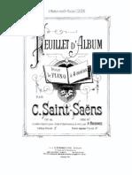 Saint-Saens Feuillet album piano 4 hands
