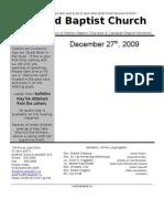 Sunday, December 27 Bulletin in Word