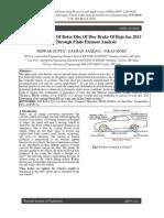 ME21 Thermal Analysis of Disc Brake PDF