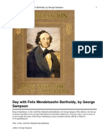 A Day With Felix Mendelssohn