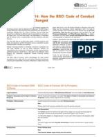 Bsci Code Benchmark 2009-2014