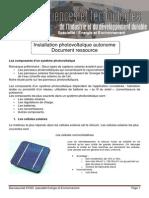 Dossier Ressource Installation Photovoltaique Autonome EE2 3