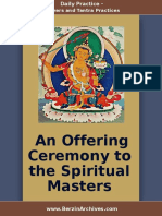 An Offering Ceremony to the Spiritual Masters