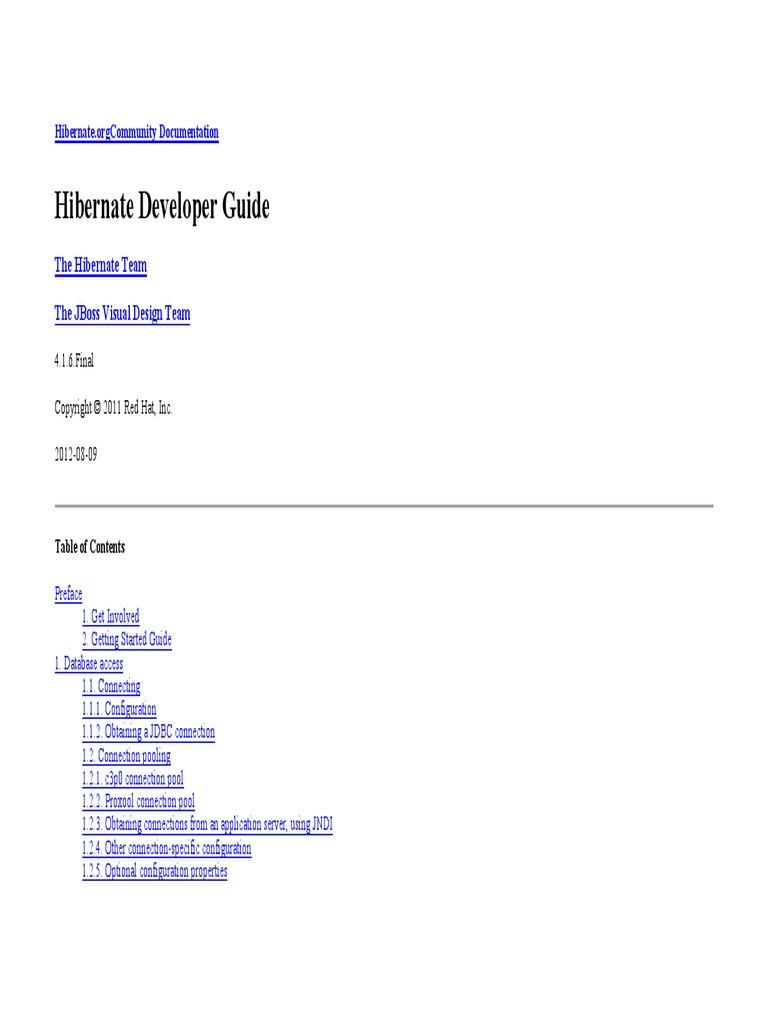 Hibernate Developer Guide | Relational Database | Databases