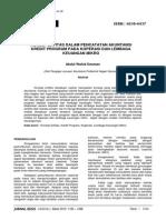 Eksis 1 2010 - 07 - Wahid - Konsep Entitas Dalam Pencatatan Akuntansi Kredit Program Pada Koperasi Dan Lembaga Keuangan Mikro