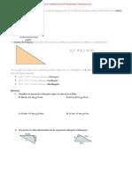 Teorema de Pitágoras y Semejanza de Triángulos