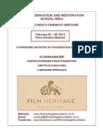 Film Preservation and Restoration School, India