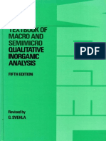 Vogels Qualitative Inorganic Analysis 5th Ed