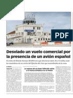 141104 La Verdad CG-Desviado Un Vuelo Comercial Por La Presencia de Un Avión Militar Español p.8