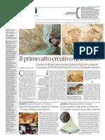 Il primo atto creativo dell'uomo - Il Corriere della Sera del 2 novembre 2014