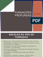 Trabalho Fundações Profundas - TUBULÕES