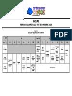 Jadual Perkhemahan Perdana Unit Beruniform