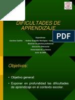 taller DIFICULTADES DE APRENDIZAJE.ppt