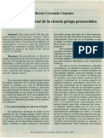 El Legado de La Ciencia Griega Presocrática