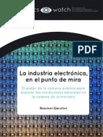 La Industria Electrónica en El Punto de Mira Resumen Ejecutivo 724277