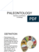 Paleontology