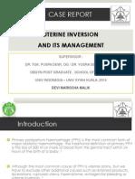 Inversion Utery - A Cse Report