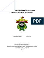 Estimasi Parameter Regresi Logistik