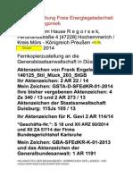 NEUIGKEITEN DER BEGANGENEN VERBRECHEN DER LANDES- UND HOCHVERFASSUNGSVERRÄTER-INNEN an GSTA-D - 06. Oktober 2014