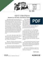 4L30-E 1-2 Band Failure