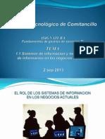 1.1 Sistemas de Informacion y Tecnologias de Informacion en Los Negocios Actuales