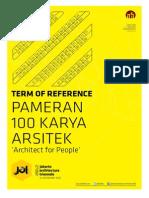 Tor Pameran 100 Karya Arsitek