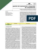 Integración de la prevención y desarrollo de las competencias