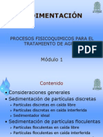 Modulo 1. Sedimentacion 2013 2