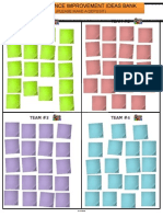 Ideas Collection Chart With Printed Post It Notes