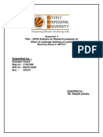 Marketing Research Spss