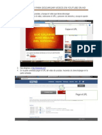 Procedimiento Para Descargar Videos en Youtube en Hd