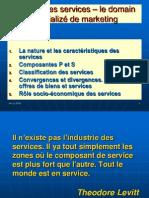 Sujet II-la Nature Et Les Caracteristiques Des Services