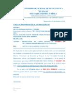 CARTA DE REQUERIMIENTO N° 21